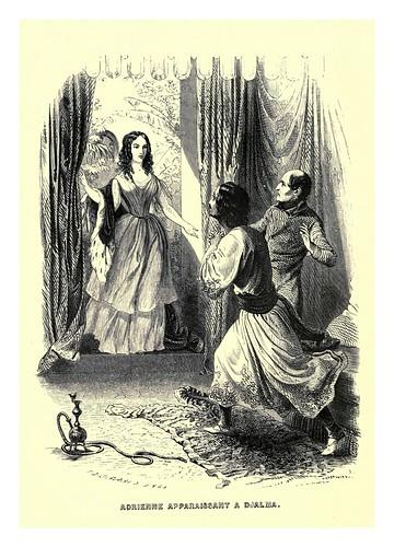 015-Adriana se presenta a Djalma-Le juif errant 1845- Eugene Sue-ilustraciones de Paul Gavarni