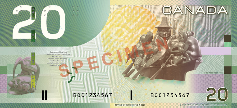 $20 (back) - 2001-2004, Canadian Journey