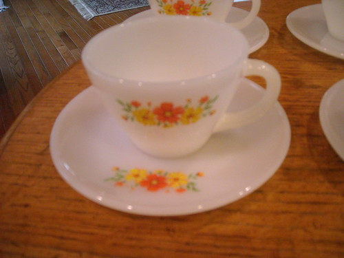 Fire-King Tea Cup + Saucer