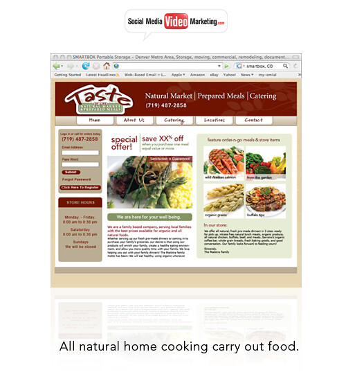 Website Design  Carry Out All-Natural Hot Meals Business by SocialMediaVIDEOmarketing