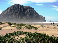Morro Rock, California Coast (moonjazz) Tags: california travel people nature giant wonder coast photo sand dunes central landmark pacificocean geography geology morrorock birdscanturay