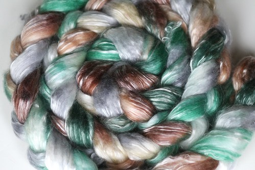 Whimsy~  'Mill Creek' on Merino/Tencel Fiber with spinning option!
