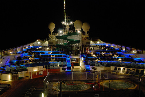 Nighttime on the Lido Deck