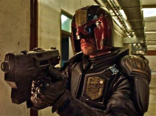Karl Urban as Judge Dredd
