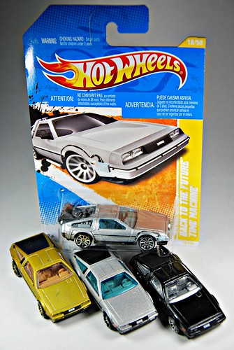"""Back To The Future"" Time Machine with the rest of HW's DeLoreans"