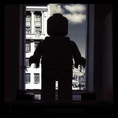 Lego Man (Looking Glass) Tags: silhouette square lego melbourne squareformat gotham myer iphoneography instagramapp uploaded:by=instagram