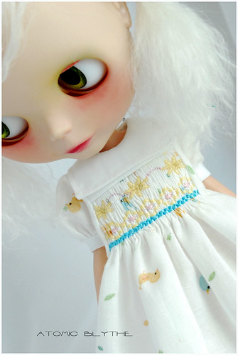 MoJo in Little Birds Smocked Frock