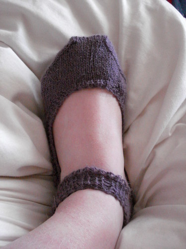 Mary jane knitted slipper socks for Japan