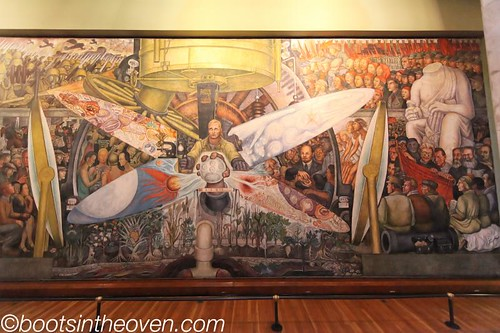 Diego Rivera mural - reproduction of the one destroyed by the Rockefellers