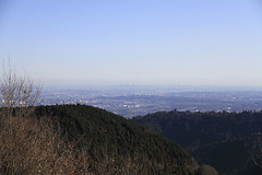 小仏城山の山頂から見た都心