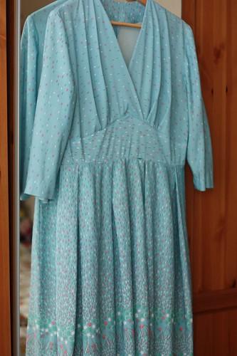 Turquoise Handmade Vintage Dress