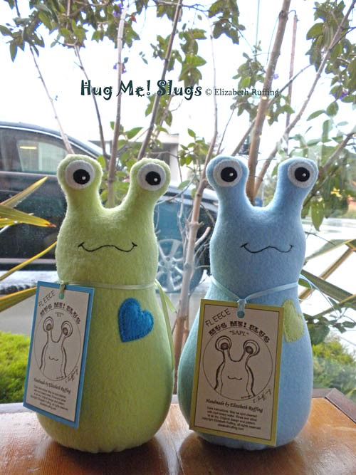 Fleece Hug Me Slugs by Elizabeth Ruffing, out to lunch