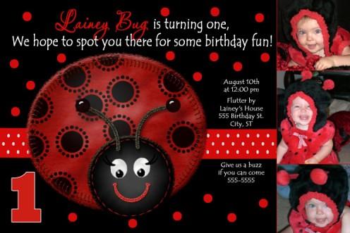 Ladybug 1st birthday invitations wblqual ladybug birthday invitations a set by poshnchicprints birthday invitations filmwisefo Gallery