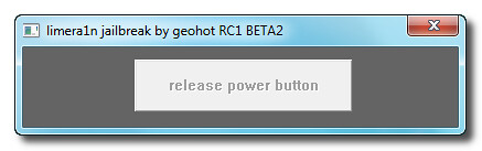 release power button | limera1n