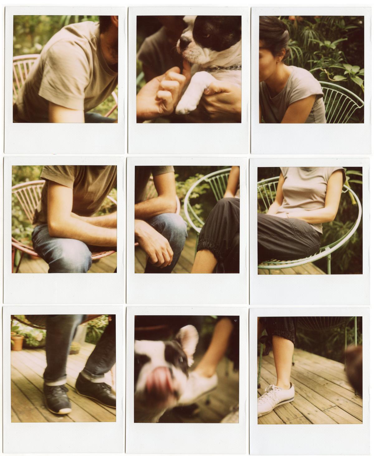 Escena de amor entre pareja anónima