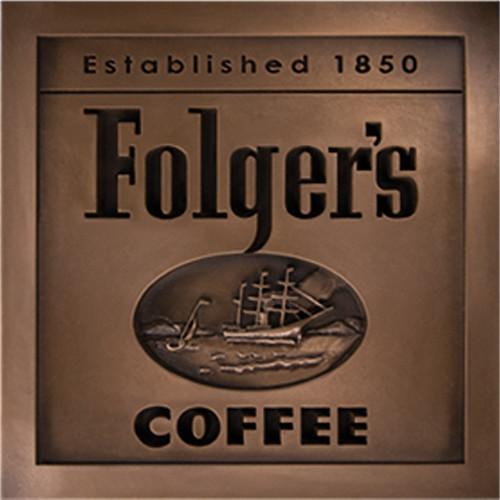 Folgers Coffe Plaque