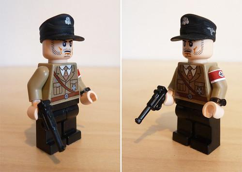 Custom minifig WWII German NSDAP Officer