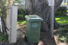 waste management carts in carmel CA (caltrain2) Tags: blue garbage rear wm management waste cart loader recycling cascade toter mcneilus mcnielus