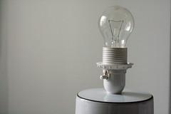 bulb (missfaeriedust) Tags: morning light white home kitchen glass lamp bulb quiet gothenburg simple minimalistic
