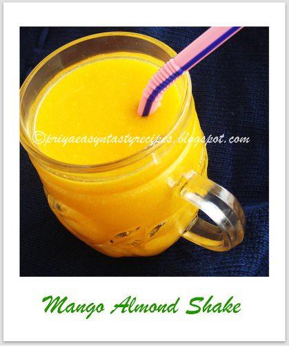 Mango Almond shake