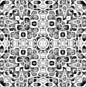 Psychedelic Deco Pattern- squared deco
