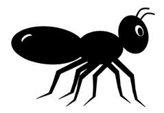 Black ant clip art, cute style lge 11cm long (you get the picture) Tags: clipart freeclipart freeanimalclipart freeinsectclipart freecuteanimalclipart freecuteblackantclipart