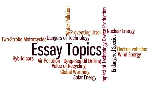 a list of topics to write about for essay