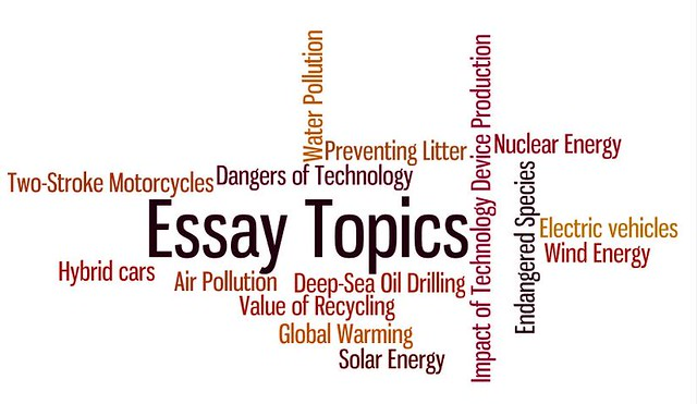 Student Topics Environmental Essay