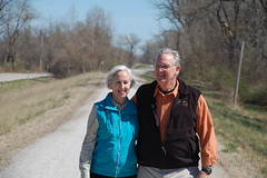 Governor and First Lady Nixon walk on the Katy Trail