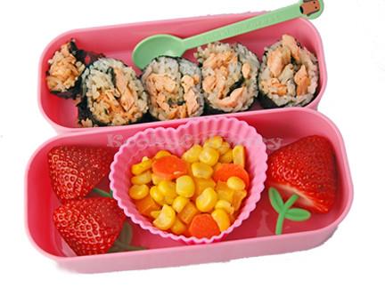 Bento #141 - Salmon & Berries