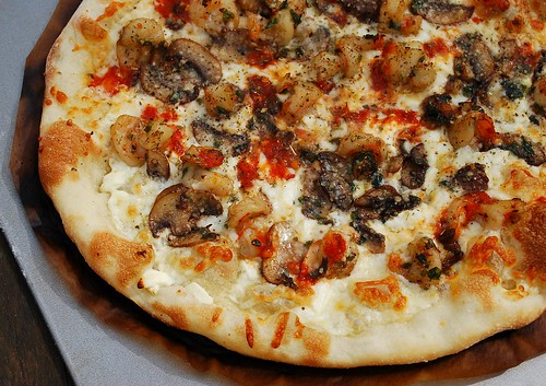 Grilled Shrimp and Mushroom Pizza