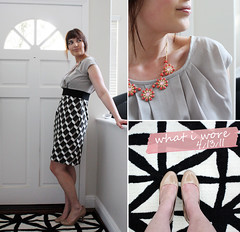 4-13-11 (Stephanie Poli) Tags: geometricprint nudeheels melonjewelry