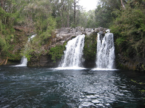waterfalls at the Ojos del Caburgua