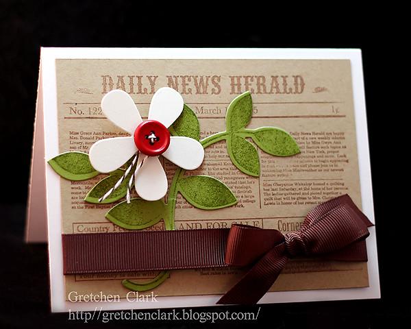 news print flower