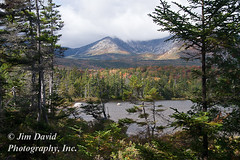 Mt. Kahtadin (jim_david) Tags: autumn trees mountain lake fall forest maine baxterstatepark northmainewoods calendar2010 mountkahtadin