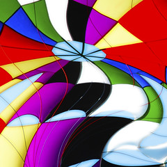 Parachute (CoolorFoto) Tags: sky color lines curves explore twirl multicolor parachute hss explored sliderssunday