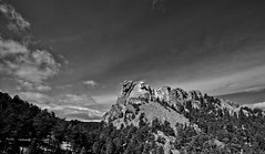Mount Rushmore (Danielle Fuller) Tags: bw southdakota landscape mountrushmore nationalmonument