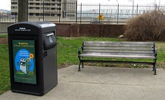 Big Belly Solar Compactor in Lytle Park
