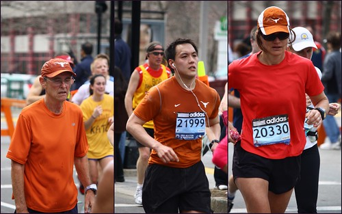 Longhorn marathon triptych