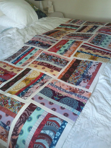 fenced in quilt, coming along