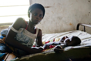 World Malaria Day: Woman and child