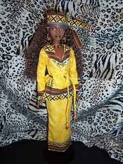 Kwanzaa Barbie Full Length (The Doll Cafe) Tags: africa fulllength barbie africanamerican kwanzaa worldculture festivalsoftheworld