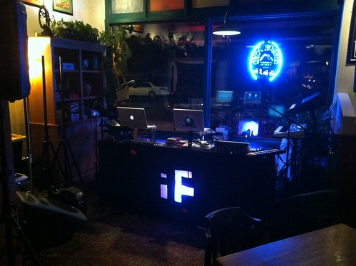 Set up at VIne St. Pub, Denver