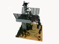 Breaking news: Highway 105 Destroyed. (Lego Junkie.) Tags: landscape lego military contest system modular annual build magnus intl primaton