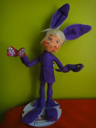 Creepy bunny lady.
