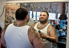 Barber of Barber's: Sunset Park Brooklyn (Chris Arnade) Tags: brooklyn barber hairdresser sunsetpark chrisarnade