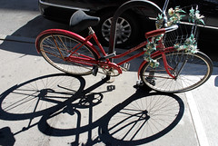 Spring Shadows (Rachel Citron) Tags: nyc newyorkcity shadows hotwheels mug gothamist shadowplay unionsquare flowerpower curbed 14thst bikewithflowers thelocaleastvillage rachelcitron manhattanusersguide