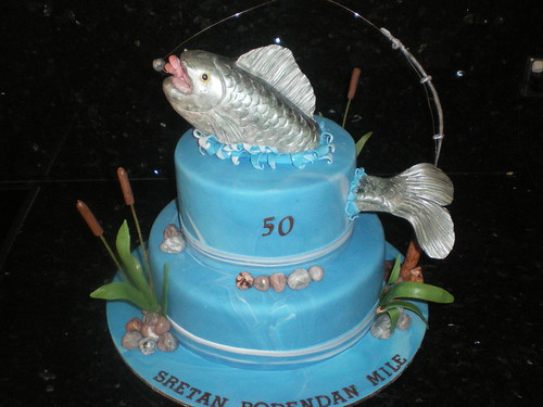 Admirable Fishing Birthday Cake A Photo On Flickriver Funny Birthday Cards Online Alyptdamsfinfo