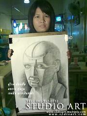 ฝึกวาดเส้นหุ่นปูน ที่สตูดิโออาร์ต