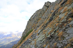 大キレットの岩